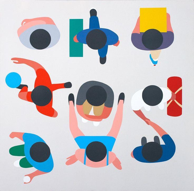 Beautiful minimal Illustrations by Geoff McFetridge http://mindsparklemag.com/design/beautiful-minimal-illustrations/
