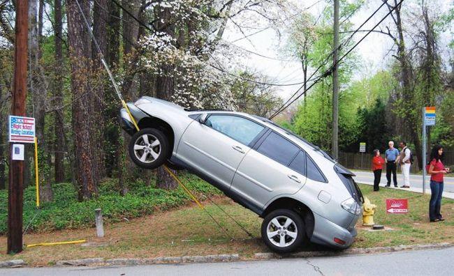 acidente estranho: