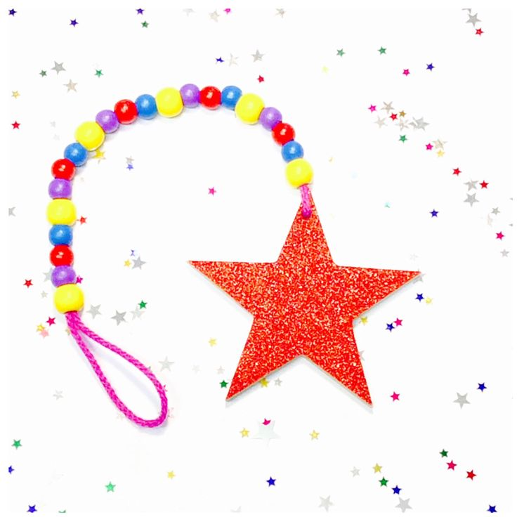 A personal favourite from my Etsy shop https://www.etsy.com/au/listing/470323846/wooden-bead-garland-glitter-star-drop