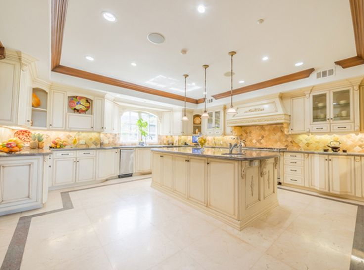Nick And Vanessa Lachey Just Purchased Jenni Rivera's $4.15 Million Mansion - The Kitchen from InStyle.com