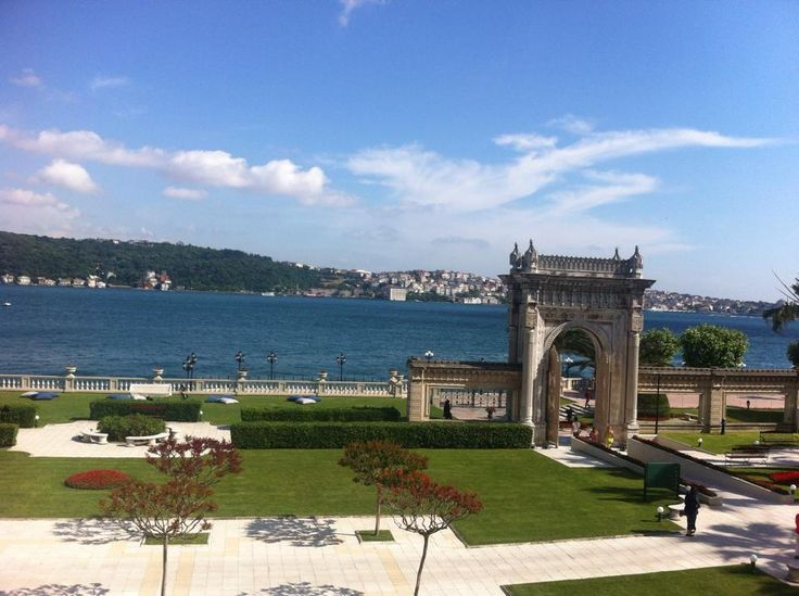 The view from my hotel room at the famous Ciragan Palace in Istanbul. I am on the European side of Istanbul, and the land across the Bosphorus Sea is the Asian side of Istanbul.