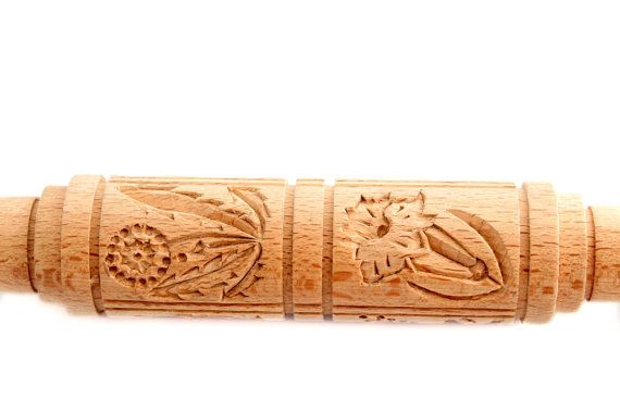 FLOWERS 3. Rolling pin for cookies / от PryanikAndCookie на Etsy