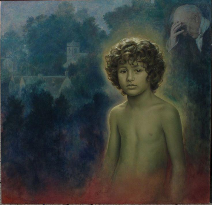 Antonio Macedo     El eterno retorno. (Óleo sobre lienzo 100x100 cm)