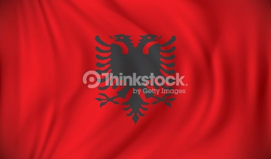 Vector Art : Flag of Albania