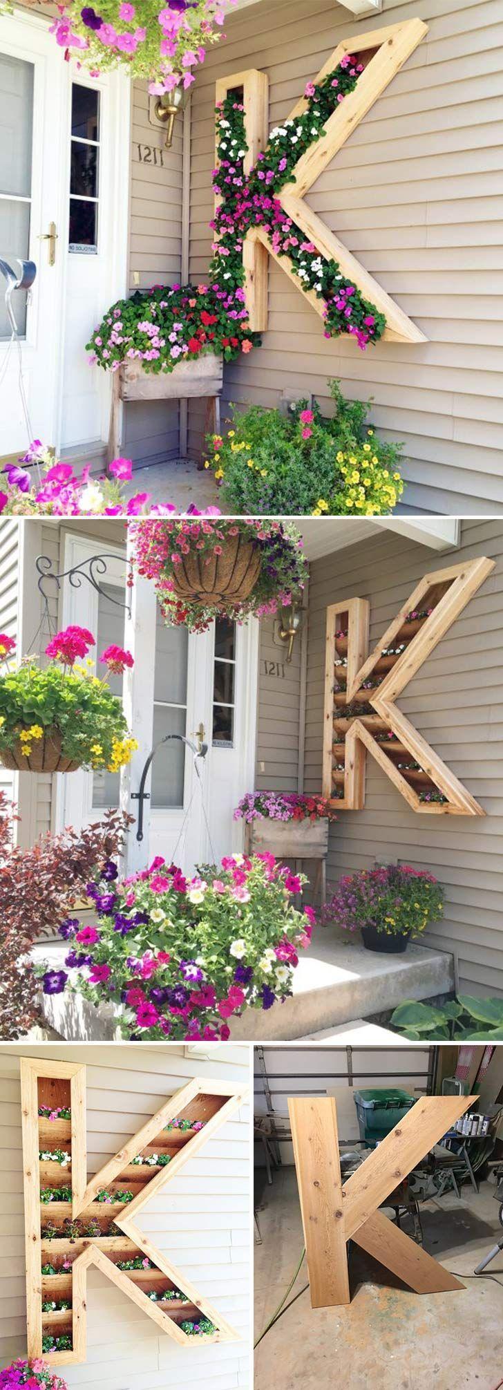 DIY Monogramm Pflanzer. Klicken Sie auf das Bild, um mehr Wohnkultur DIY Handwerk und Ideen zu sehen – Jill M.