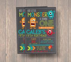 Monster Invitation, Monster Birthday Invitation, Monster Party, Little Monster First Birthday, Birthday, 2nd Birthday, Birthday Invitation