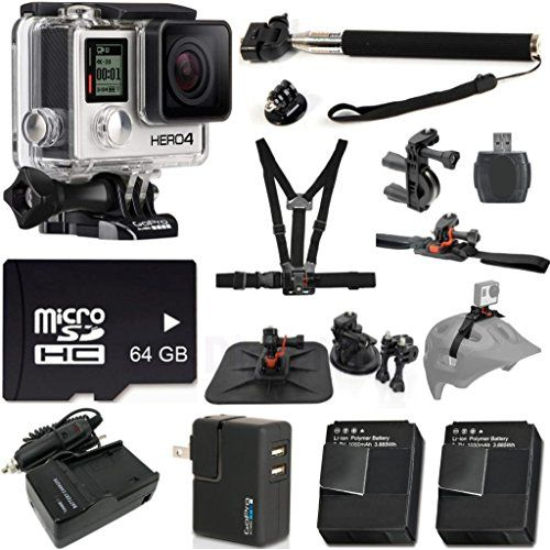 GoPro HERO4 Silver Edition Camera HD Camcorder CT Exclusive Bundle with Extra Replacement Battery + AC/DC Worldwide Use Charger + Extendable Monopod + Professional Helmet Mount + Deluxe Car Mount + 64GB Micro SD Memory + 10pc Bundle Kit - http://cameras.celebratethebest.com/?product=gopro-hero4-silver-edition-camera-hd-camcorder-ct-exclusive-bundle-with-extra-replacement-battery-acdc-worldwide-use-charger-extendable-monopod-professional-helmet-mount-deluxe-car-mount-64