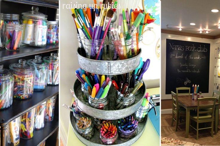 15 idées pour organiser un coin bricolages aux enfants!
