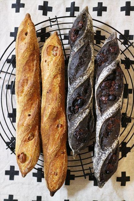 道産食材で天然酵母パン - にわかどさんこねこ*北海道移住記。 ココアチョコレーズンと、きなこ金時豆のフィセル(レーズン酵母)