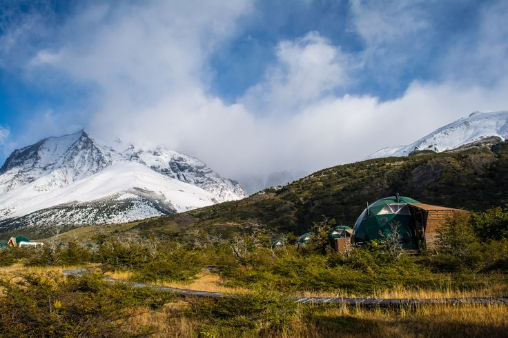 Suite domes in the heart of Torres del Paine NP, Chile, #Patagonia