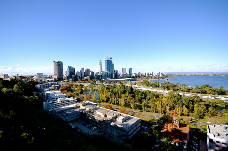Beautiful view of the #perth city skyline from #kingspark.