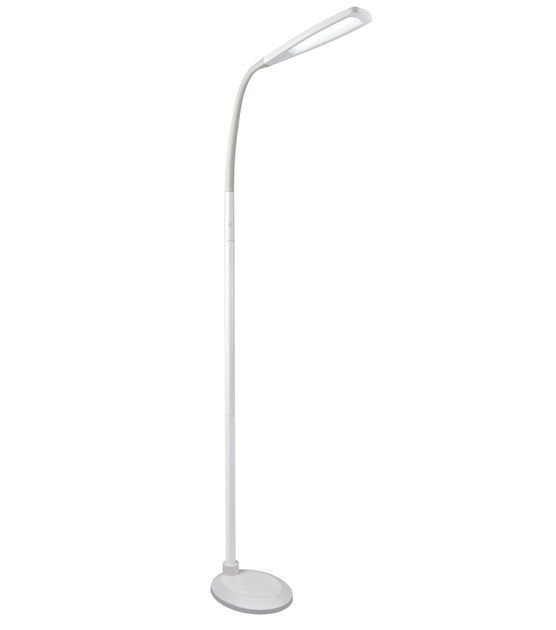 Ottlite Natural Daylight Led Flex Floor Lamp White