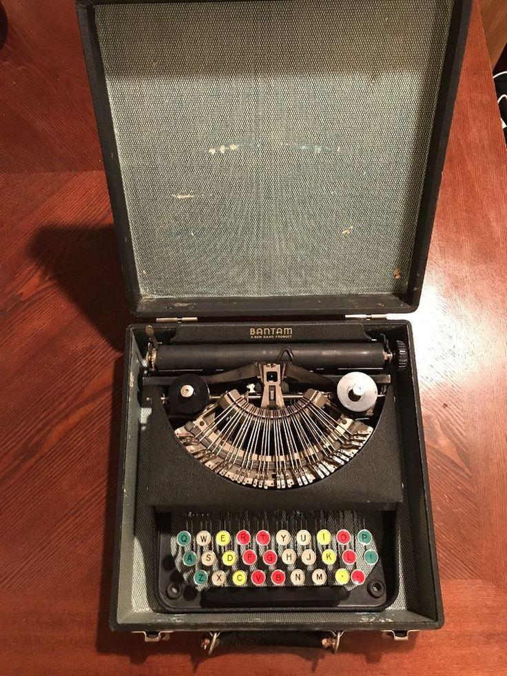Antique Bantam Rem Rand Portable Typewriter Color Coded Keys GREAT CONDITION! #Remington
