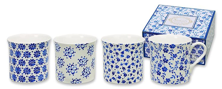 Heath McCabe Princess Flore Bleu (Gift Box of 4), Blue, Set of 4: Amazon.co.uk: Kitchen & Home