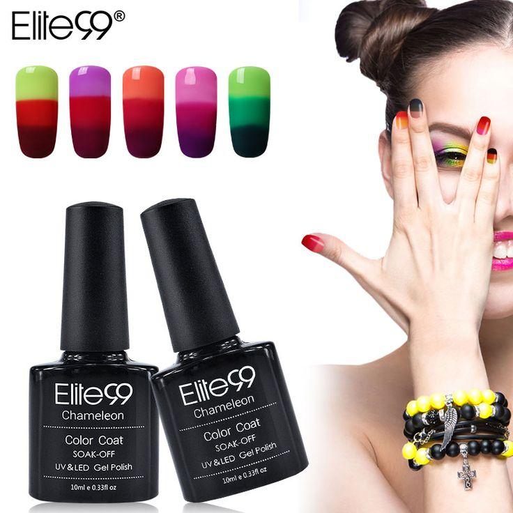 Elite99 New 32 Colour Different Chameleon Temperature Change Color Gel Nail Polish LED Lamp Nail High Quality Gel Polish Pick 1