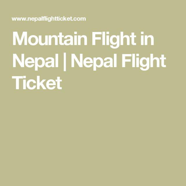 Mountain Flight in Nepal  | Nepal Flight Ticket