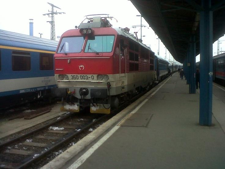 Budapest Kosice Intercity arrived to Budapest Keleti station