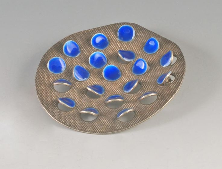 Grete Prytz Kittlesen, c.1953-54,Enamel and Sterling Brooch.