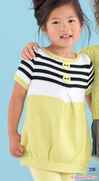 Туника для Алисы - Машинное вязание - Страна Мам