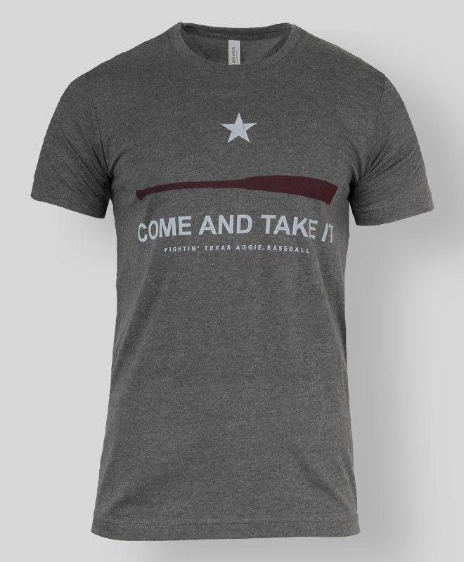 """Come & Take It"" Aggie baseball t-shirt #AggieStyle #AggieGifts"