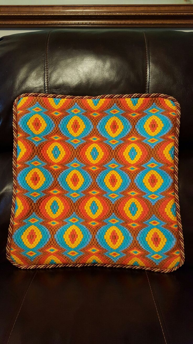 My fourth Bargello finished in a Pillow ❤
