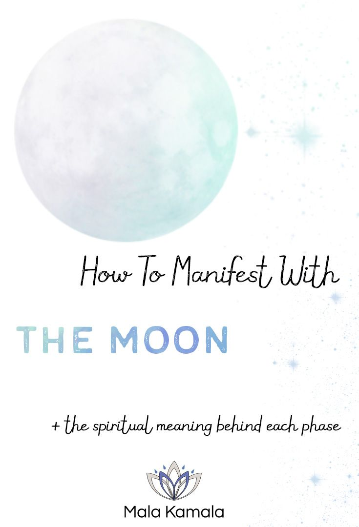 Pin Now, Read Later! How To Manifest With The Moon and The Spiritual Meaning Behind Each Phase. Setting your intentions and manifesting with the moon. What are the moon phases and what do they mean? Navigate, Meditate and Manifest with us. Tap to read.