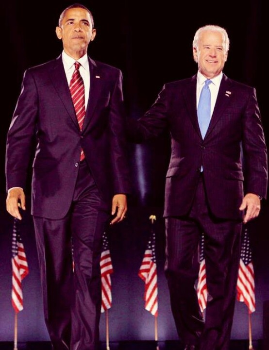 President Barack Obama With Vice President Joe Biden....