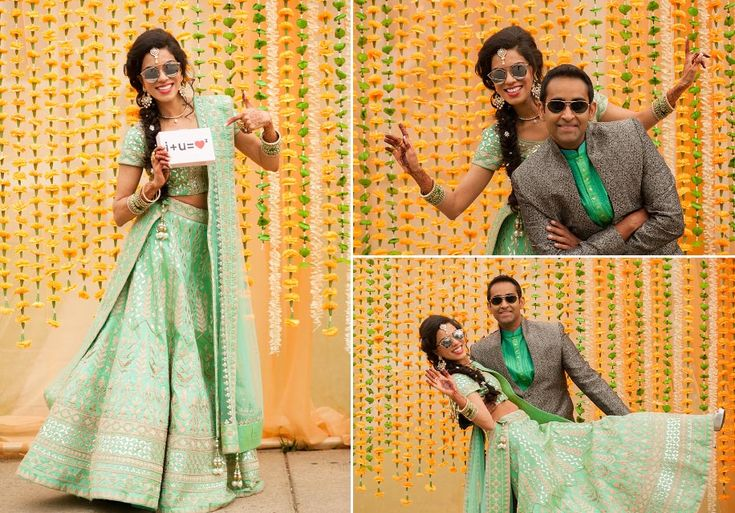 An aqua green lehenga with beautiful silver motifs for Kamana of WeddingSutra. Photos Courtesy- Photographick
