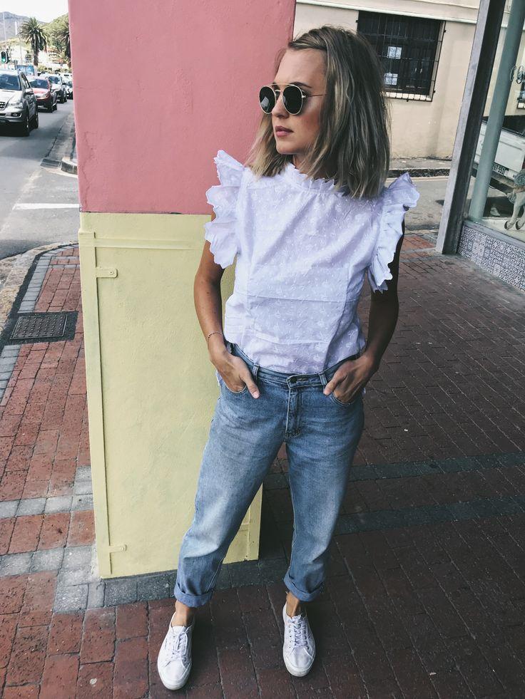 White frill blouse - The Rachel