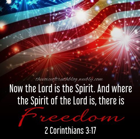 """2 Corinthians 3:17 """"Now the Lord is the Spirit, and where the Spirit of the Lord is, there is Freedom."""" thevoiceoftruthblog.weebly.com"""