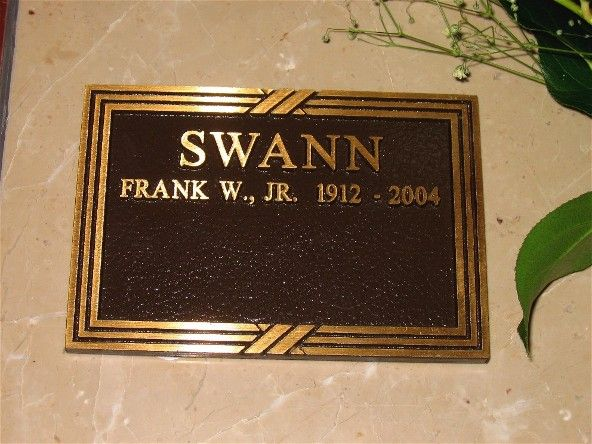 "Frank William Swann, II - Actor. His film credits include ""Seven Sinners"" with Marlene Dietrich and John Wayne. He also appeared in the Shirley Temple film ""Young People"" as Frank Willard. He was coached by Maria Ouspenskaya, a Russian actress."