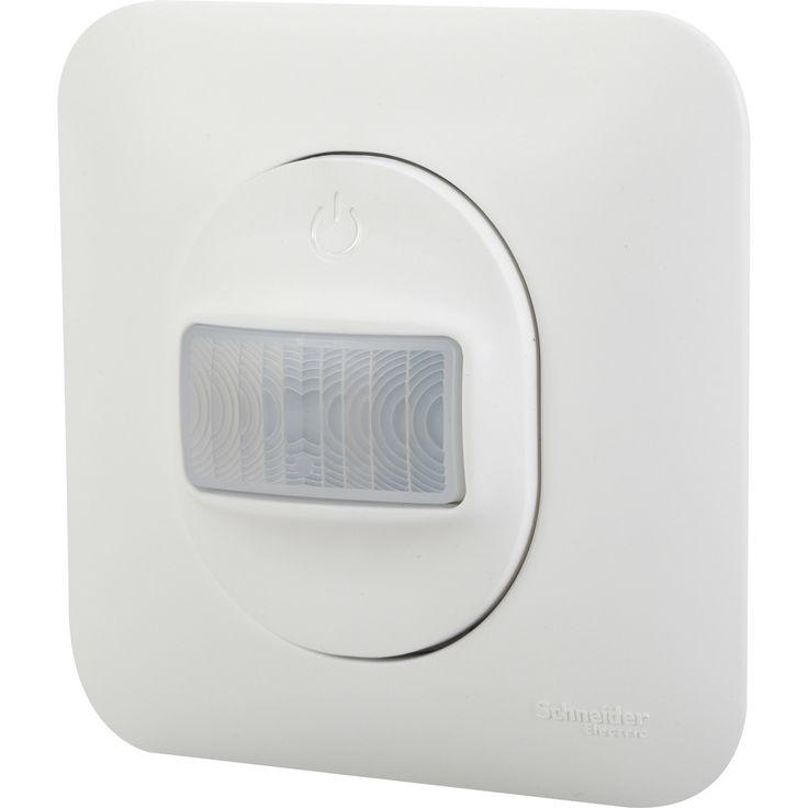 Interrupteur automatique blanc à encastrer SCHNEIDER ELECTRIC, série Ovalis