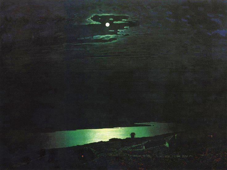 Архип Куинджи «Лунная ночь на Днепре».