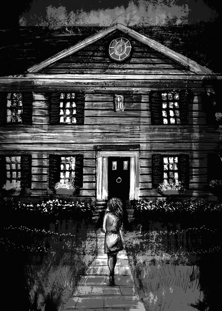 """In this foreboding piece, artist Luke Spooner takes on Paul Tremblay's contribution, """"A Haunted House is a Wheel Upon Which Some are Broken."""""""