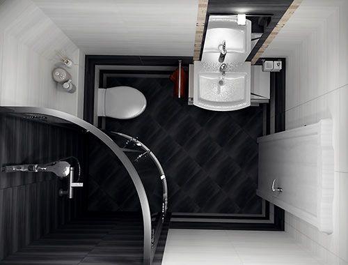 черно-белая ванная комната - Поиск в Google