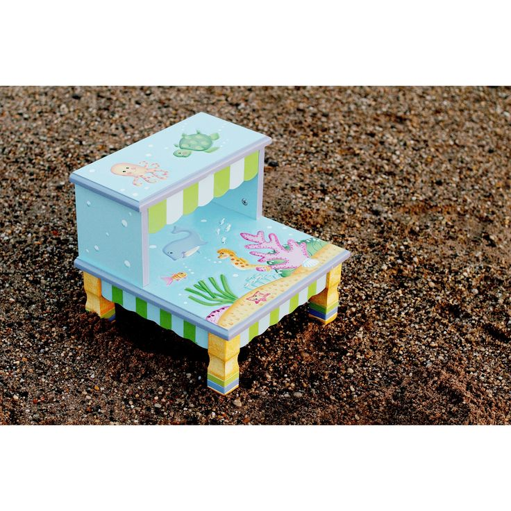 Fantasy Fields Under The Sea 2-Step MDF Step Stool with 200 lb. Load Capacity