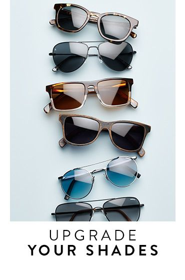 Upgrade your shades: sunglasses for men.