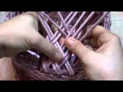 ▶ Как сплести ручку для пасхальной корзины. Часть 7. - YouTube
