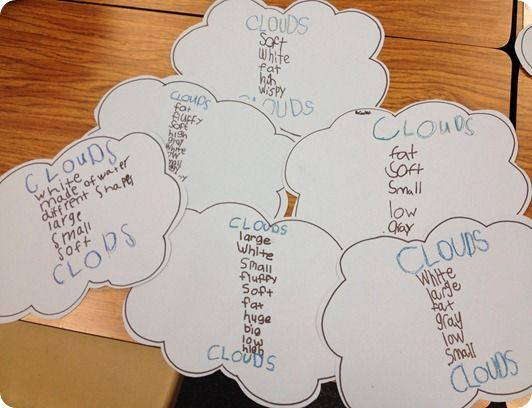 List Poems... Clouds: Lists Poems, Poetry Activities, Schools Ideas, Teaching Ideas, Clouds Poems, 1St Grade Writing, Writing Ideas, Clouds Lists, Writing Workshop