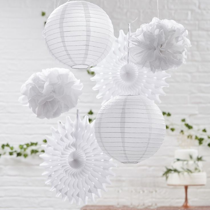 Our White Decoration Bundle is the perfect solution to fill your event space - elegant and suits all themes! www.whitelacepartyware.com.au