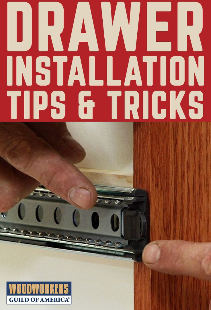 Drawer Installation Tips Mechanical Drawer Slides In
