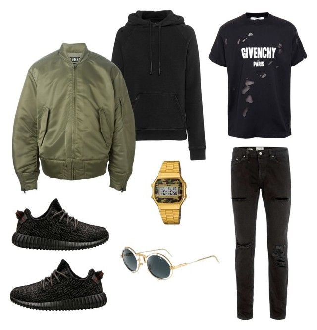 """Untitled #15"" by martin-panek on Polyvore featuring adidas, adidas Originals, Topman, Givenchy, Casio and Cazal"