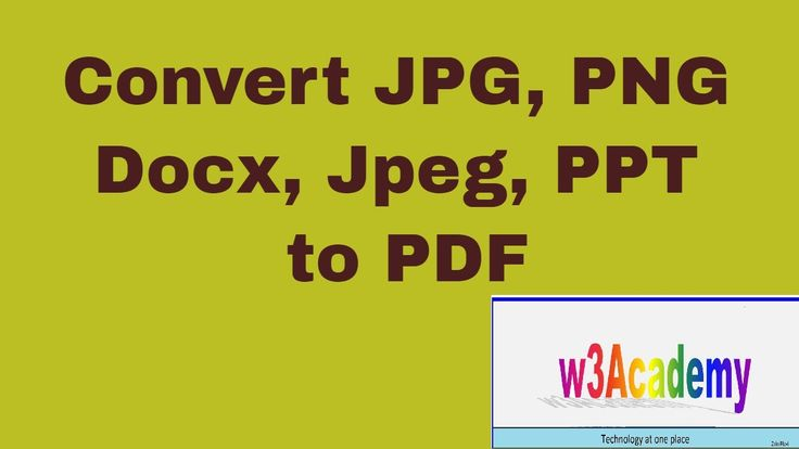 How to convert jpg, png, jpeg, docx to pdf file format