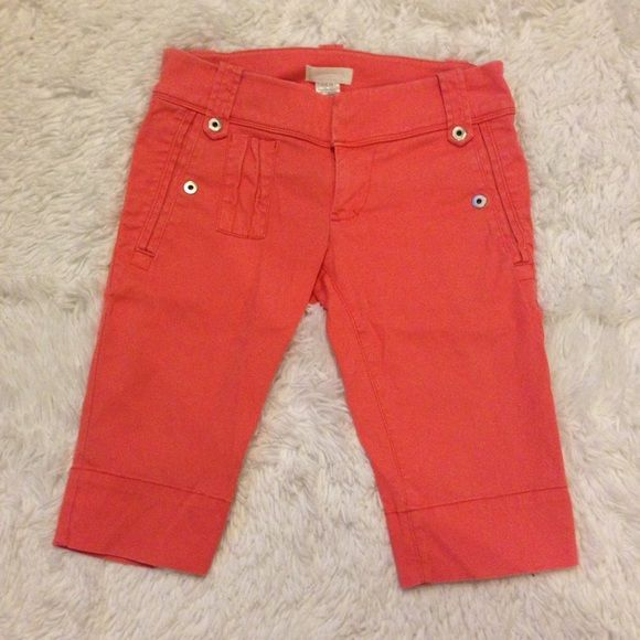 Diesel Coral Shorts New without tags. 98% cotton, 2% elastane. 5 pocket, coral color, 9 snapable buttons. Diesel Shorts