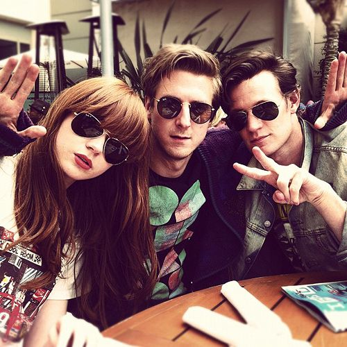karen gillan, arthur darvill, matt smith... I WOULD DIE A THOUSAND DEATHS TO MEET THEM-- LOL