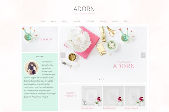 Check out Adorn // An Ecommerce Genesis theme by Restored 316 on Creative Market. #WordpressTheme