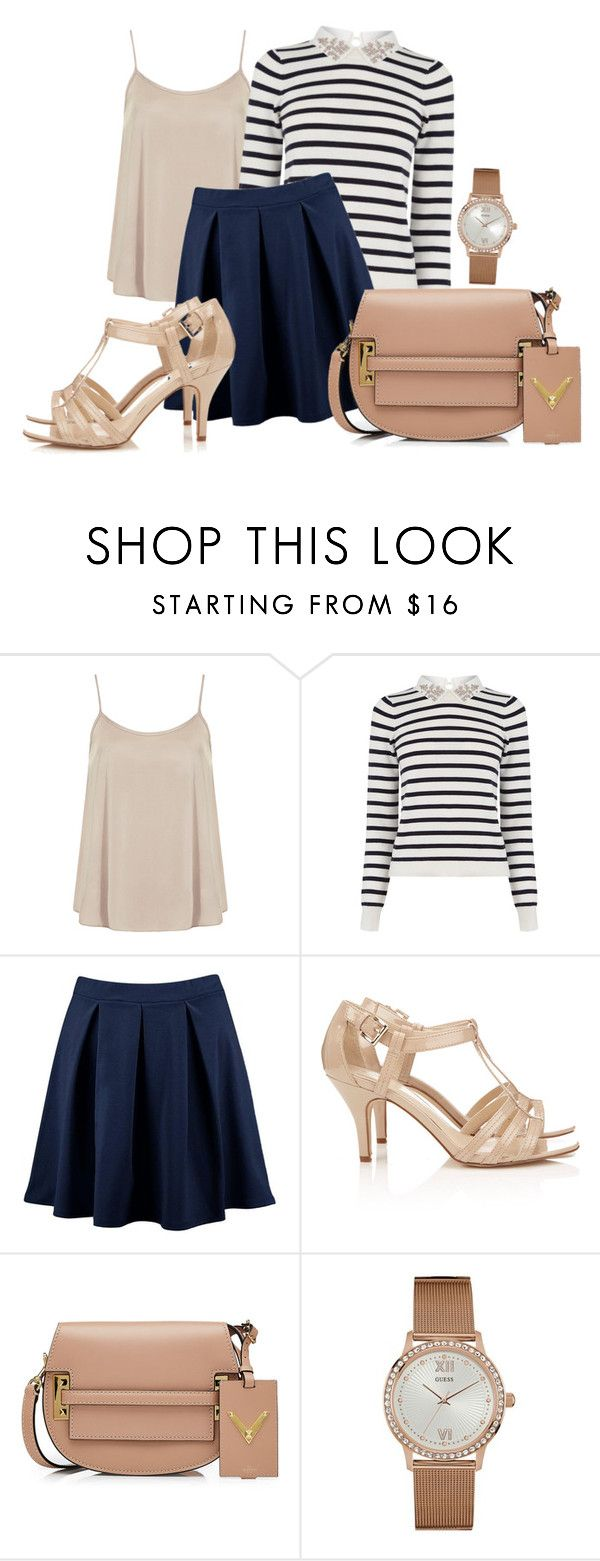 """""""Untitled #292"""" by racita on Polyvore featuring Dorothy Perkins, Oasis, Boohoo, Wallis, Valentino and GUESS"""