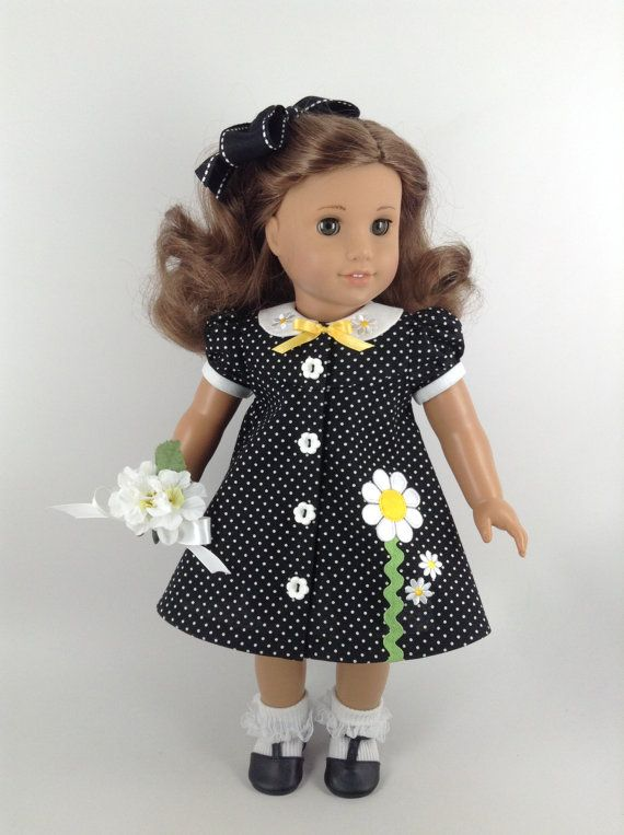 American Girl 18-inch Doll Clothes Black/White by HFDollBoutique