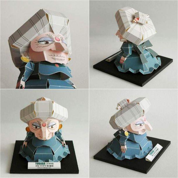 Achevons la semaine avec ce magnifique papercraft du Coréen Jang Hyung-Soon (Zicondesign). Les otaku accomplis auront bien sûr reconnu Yubaba, la sorcière qui dirige les bains publics dans le film d'animation 'Le Voyage de Chihiro'. Un modèle en papier à…