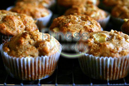 Jablkovo  tvarohové muffiny